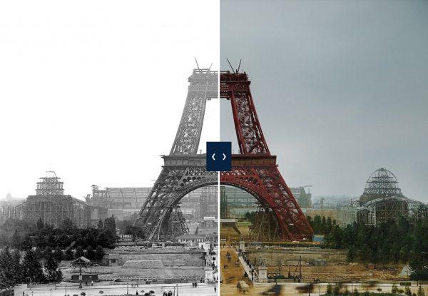 برج ایفل در اصل قرمز بوده و یکسال طول کشید تا با ۶۰ تن رنگ، رنگ آن را عوض کنند