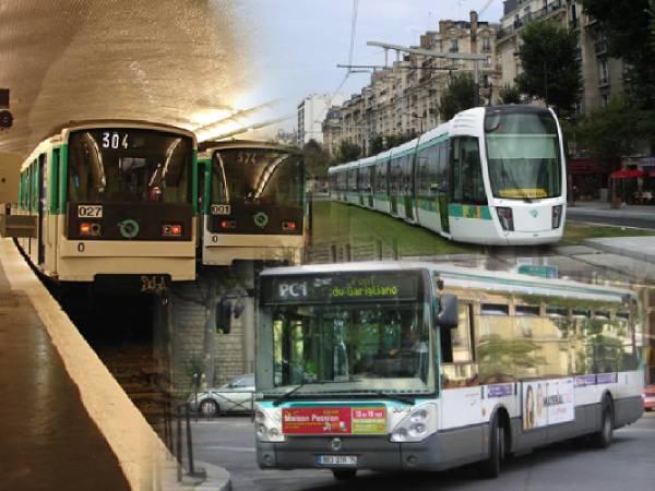 سیستم حمل و نقل در پاریس