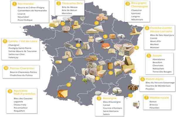 راهنمای خرید پنیر های فرانسوی در پاریس