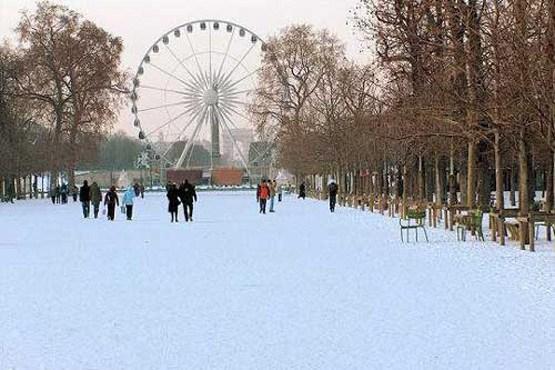 پاریس در برف زیباتر میشود