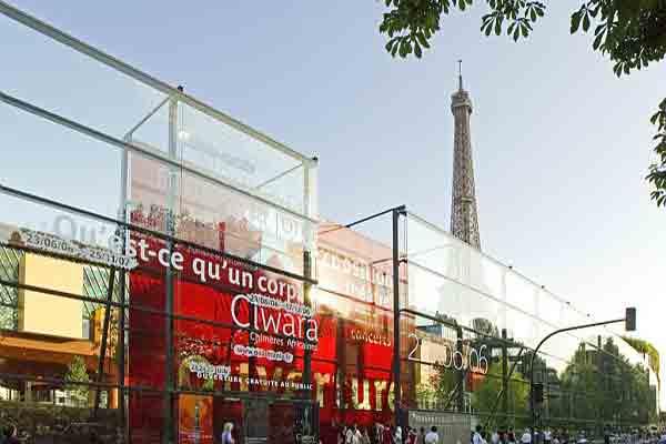 موزه برنلی پاریس نمای شیشه ای