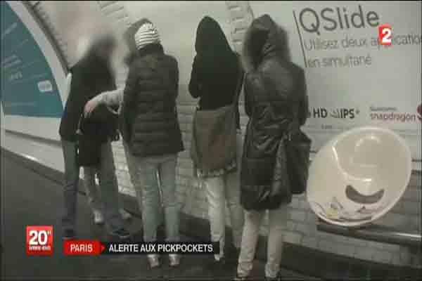 کودکان جیب بر متروی پاریس