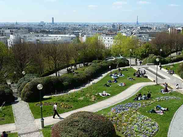 پارک بلویلپاریس, مراکز تفریحی پاریس,Belleville , paris , parc, jardin , پارکهای پاریس