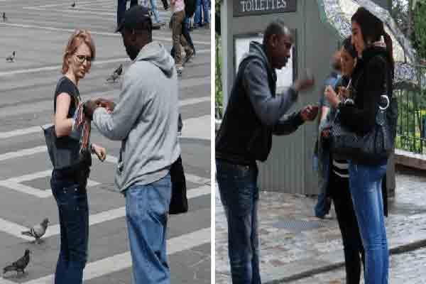 دستنبد دوستی,کلاهبرداری از توریستها در پاریس