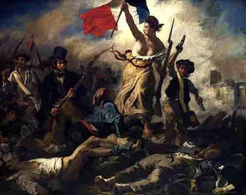 آزادی هدایت مردم توسط اوژن دلاکروا