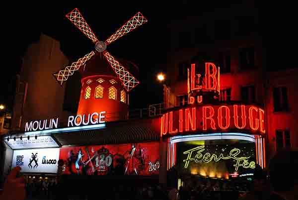 کاباره مولن روژ , مونمارتر پاریس