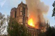 کلیسای نتردام پاریس در آتش | آتش سوزی مهیب در قلب پاریس