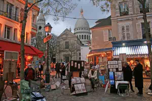مونمارتر پاریس , place du tertre