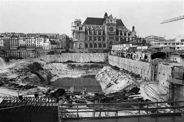 vue du chantier du forum des halles