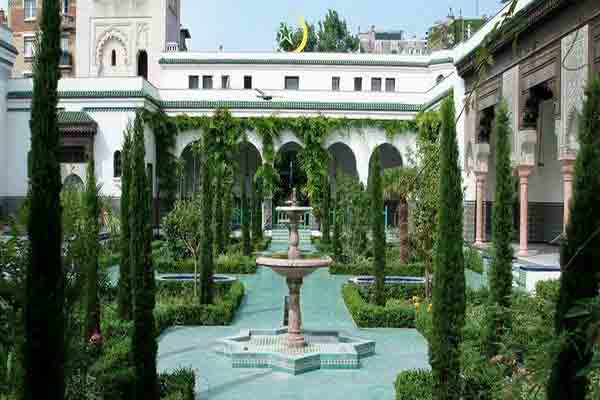 گنجینه مسجد بزرگ پاریس | نماز خانه | حمام زنانه | رستوران و سالن چائی