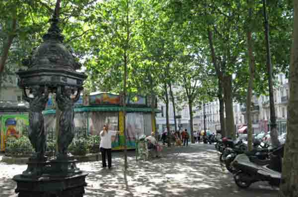La place des Abbesses